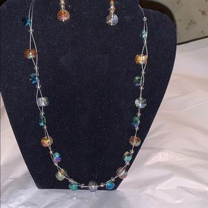 Jewelry - Handmade Floating Crystal Necklace